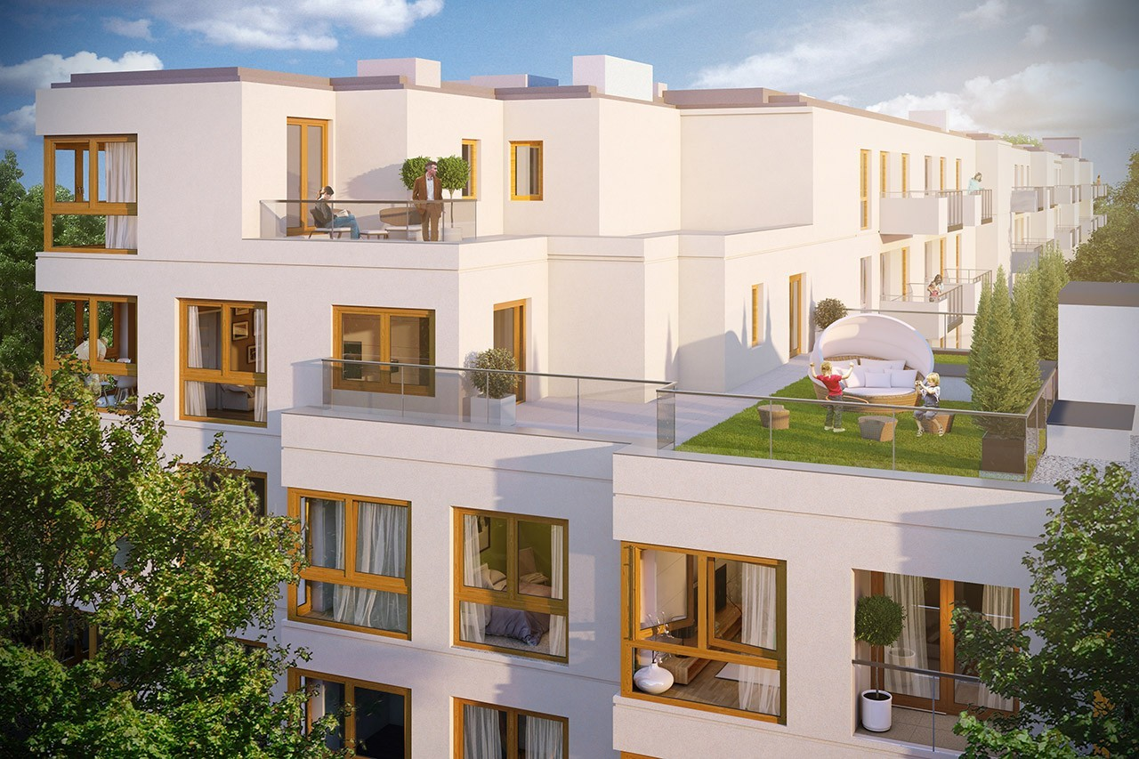Apartamenty Krasińskiego II - zielone tarasy na dachach