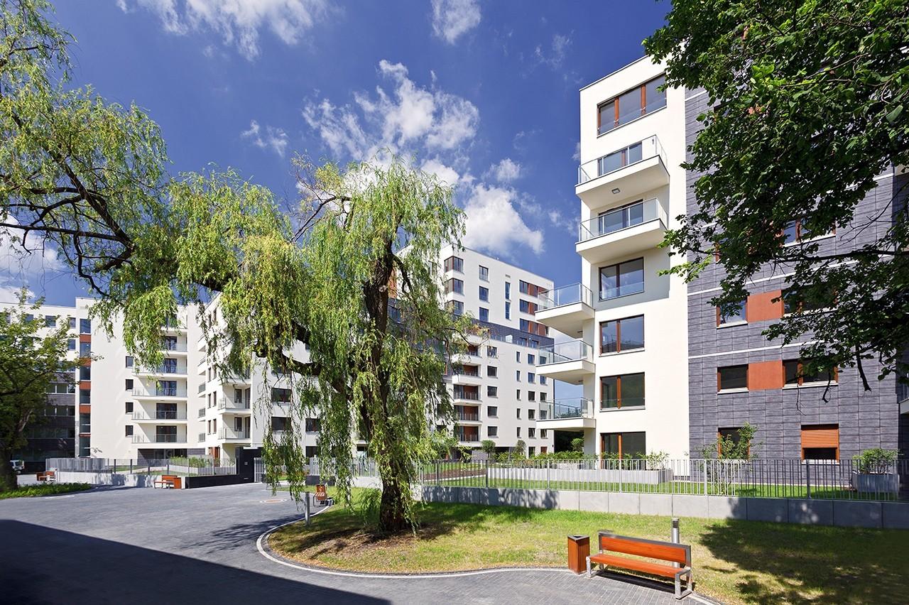Apartamenty przy Krasińskiego - zieleń imała architektura
